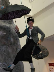 """Mary Poppins """"floating"""" down"""